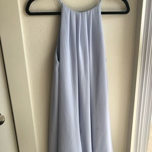 Baby blue pleated flowy dress